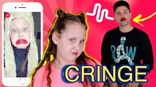 reacting to my girlfriend's cringey musical.ly
