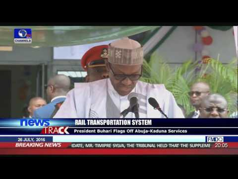 President Buhari Flags Off Abuja-Kaduna Rail Services