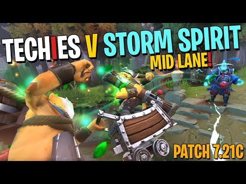 Nobody Wanted Mid So Techies Took It - DotA 2 Patch 7.21C