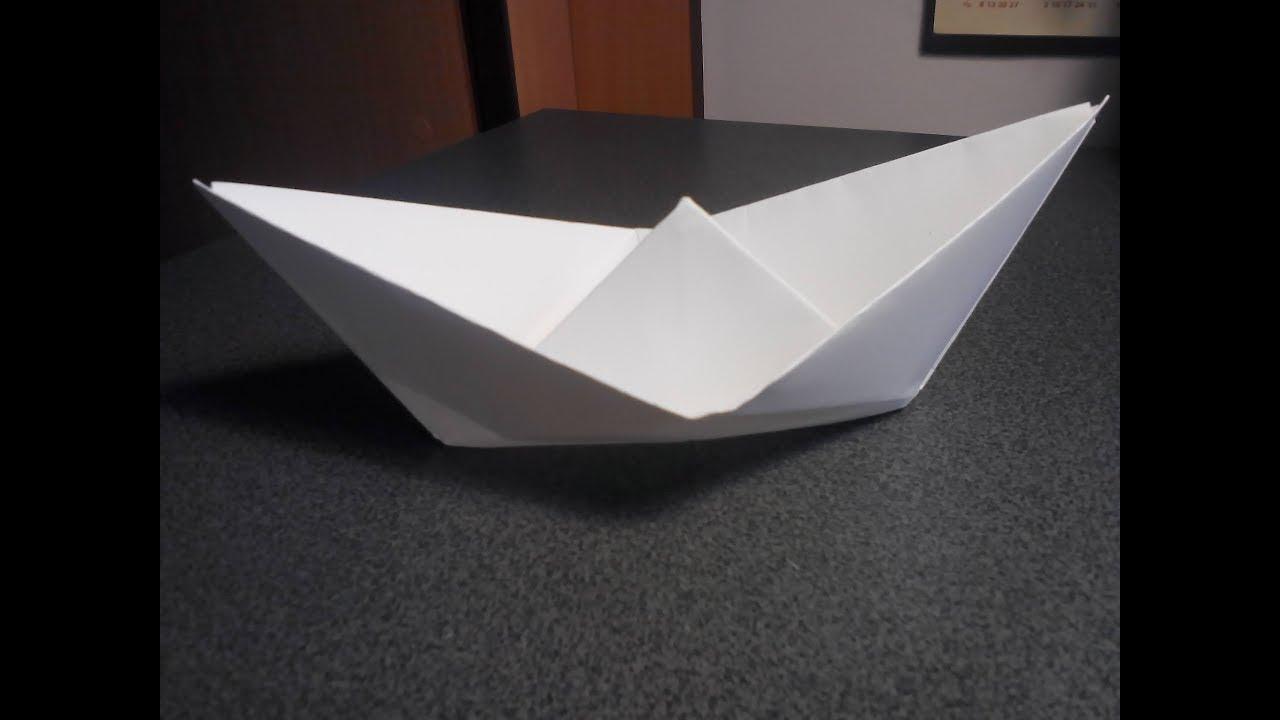 Сделать лодку из бумаги