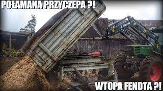 Połamana Przyczepa & Wtopa Fendta ?! czyli Wywóz Ziemi✔Równanie Podwórka☆ Ciężki Wyjazd z PwO✔