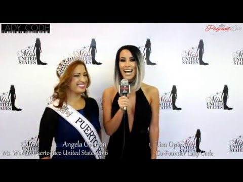 Angela Overton, Ms Woman Puerto Rico United States 2016 - PageantLive On Location with Lisa Opie