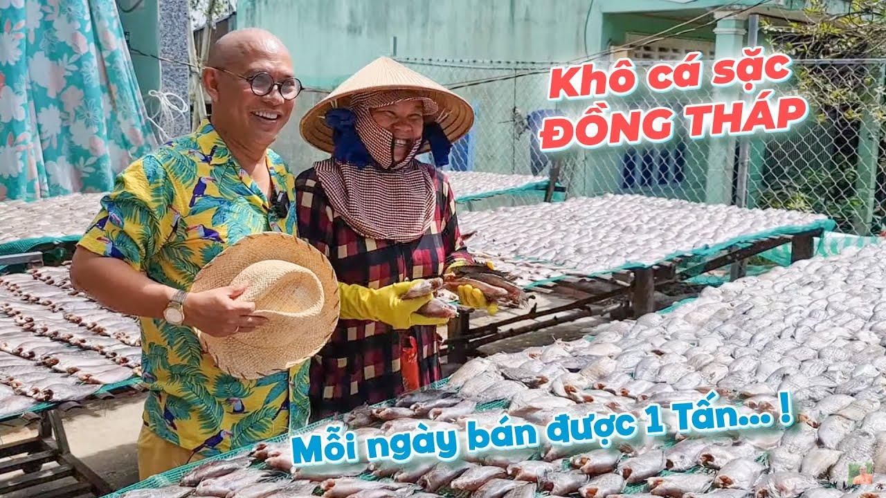 Khô cá sặc bổi Đồng Tháp nhà làm mà bán ngày có 1 tấn chứ nhiêu !!???