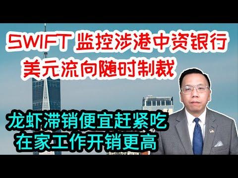 美国SWIFT监控中资银行美元流向随时制裁,龙虾滞销在家办公开销更高SWIFT monitors dollar flow of Chinese banks. Lobster unsalable now