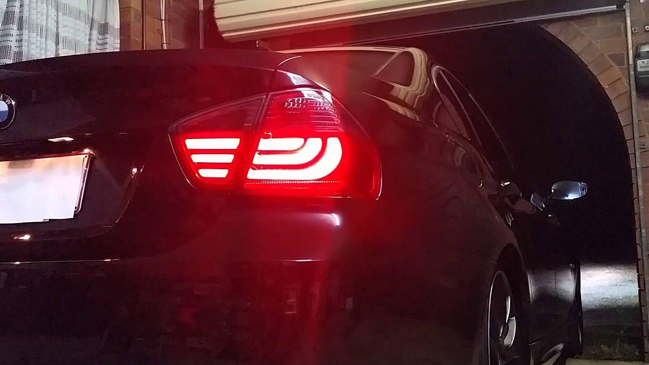2014 BMW 335I >> Testing my BMW E90 3 Series 320i LED 05-08 Smoked Red Lava ...