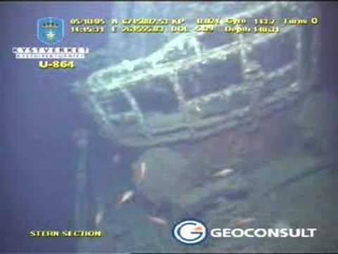U-864: video survey of stern section