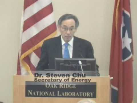Dr. Steven Chu, Secretary of Energy