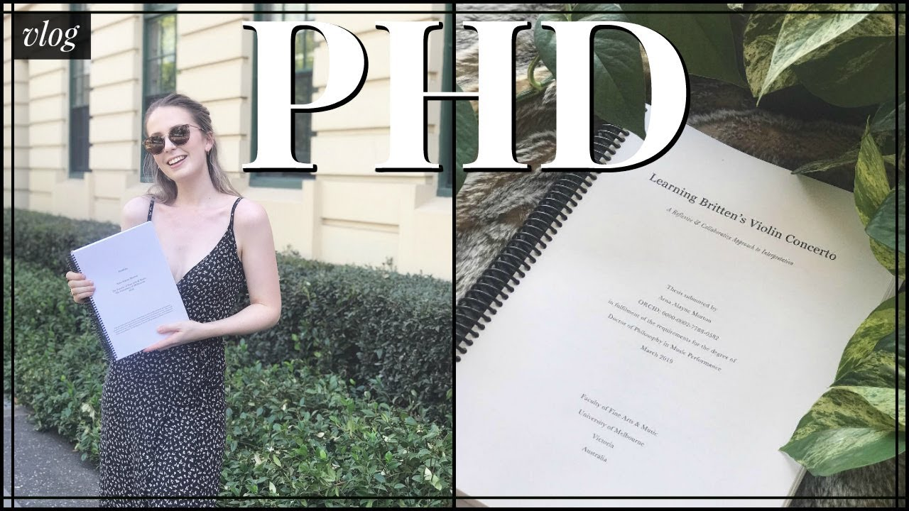 Submitting phd thesis