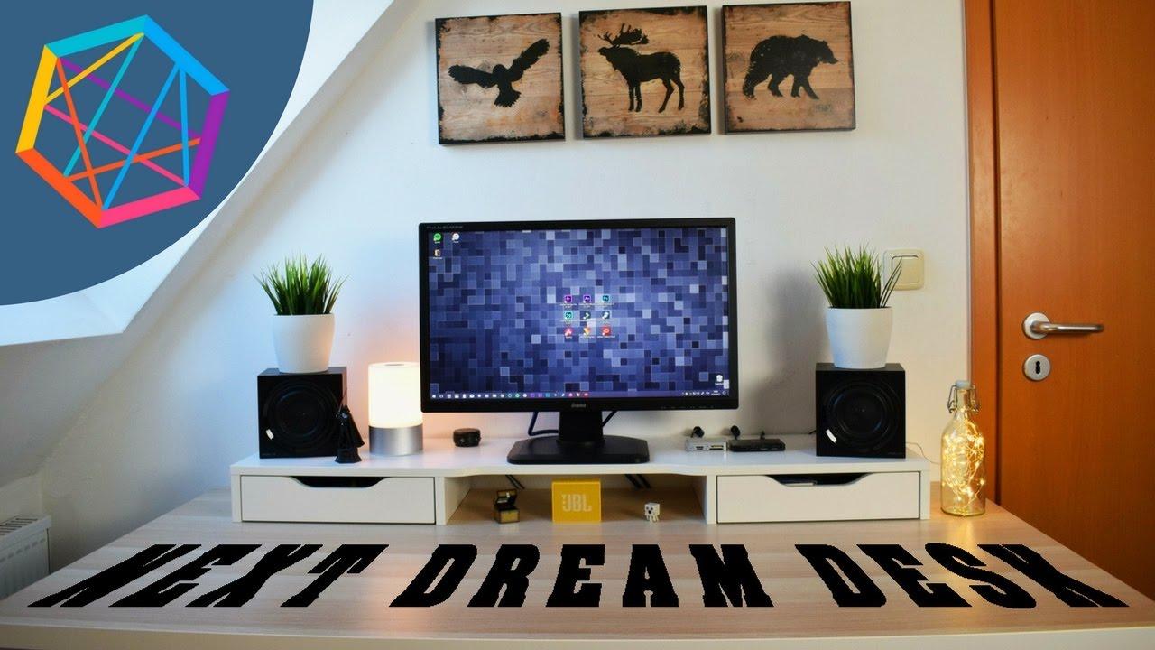 set up tour the next dream desk youtube. Black Bedroom Furniture Sets. Home Design Ideas