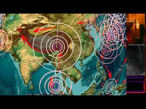 12/19/2017 -- 50,000 foot high Volcanic blast in Northwest Pacific - Midwest USA M4.0 as expected