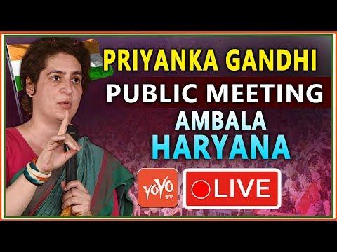 LIVE : Priyanka Gandhi Vadra Addresses Public Meeting in Ambala, Haryana | Congress | YOYO TV LIVE