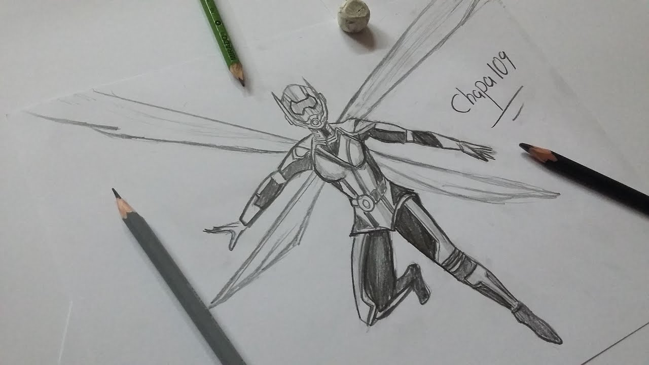 Dibujo De La Avispa El Hombre Hormiga Drawing The Wasp Ant Man