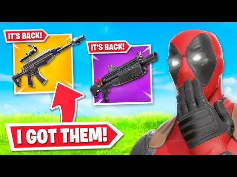 *NEW* Weapons RETURN To Fortnite! (I USED THEM)