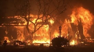 ABC News' Olivia Smith reports from the front lines as crews battle...