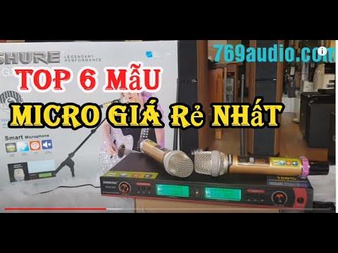 Top 6 mẫu Micro karaoke, mic không dây hay nhất năm 2019