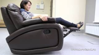 Кресла спб. Кожаное кресло реклайнер FINO(, 2013-04-01T20:11:48.000Z)