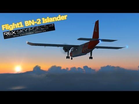 REX Sky Force 3D | Flight1 BN-2 Islander | Chasing the Sunset [FSX|DX10]