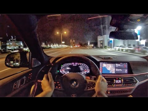 2020 BMW X6 M Competition POV Night Drive (3D Audio)(ASMR)