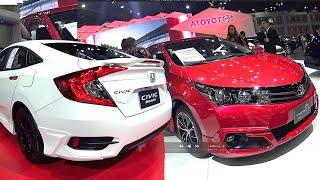 All new 2016, 2017 Honda Civic VS 2016, 2017 Toyota Corolla Altis Facelift