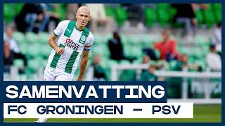 Domper Robben bij Eredivisie-rentree tegen sterk PSV | Samenvatting FC Groningen - PSV | Eredivisie