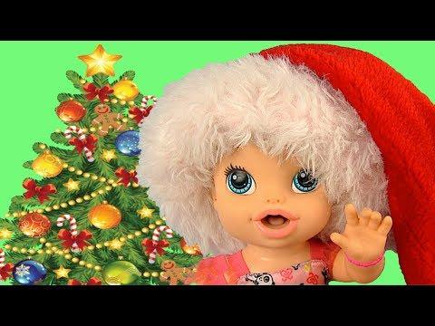 Куклы УКРАШАЮТ ЁЛКУ ??? Новый год Мультик с Игрушками Играем с куклами
