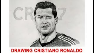Realistic Pencil Drawing of Cristiano Ronaldo   Time Lapse   Draw holic