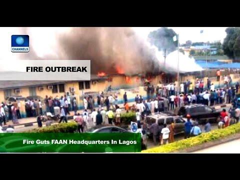 News Across Nigeria: Fire Guts FANN Headquarters In Lagos