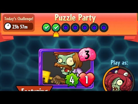 Puzzle Party | 21 March 2018 | Plants vs. Zombies Heroes