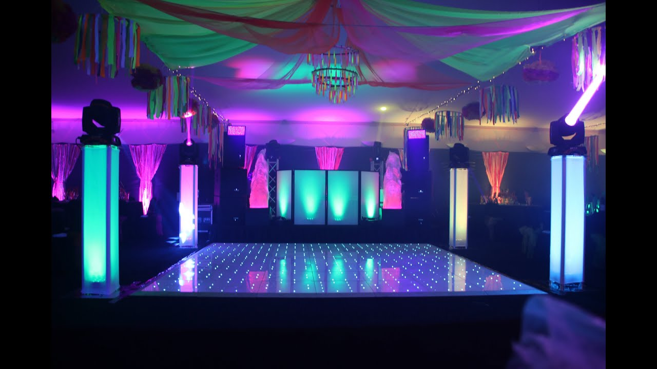 Mobile Disco Set Up  All controlled by wireless dmx