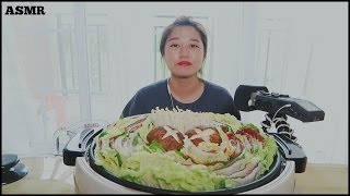 asmr things in a pot ep 3 mille feuille nabe eating cooking sounds