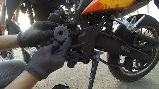 Замена звезды JTF287 на мотоцикле  Viper v250vxr/Irbis xr250