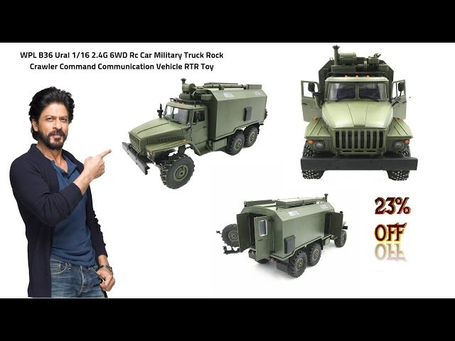 WPL B36 Ural 1/16 2.4G 6WD Rc Car Military Truck Rock Crawler -Slide Review!!
