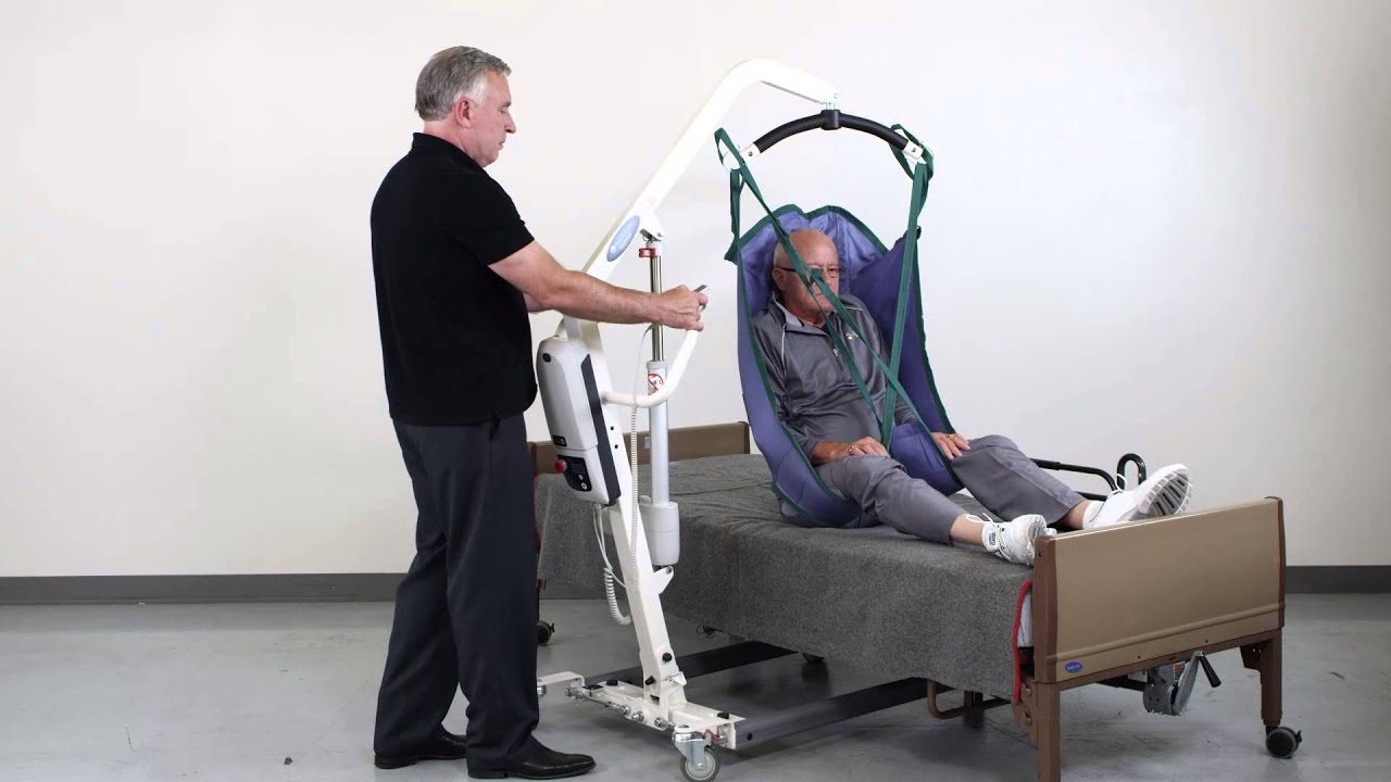 Patient Lift Transfer From Bed To Chair Youtube