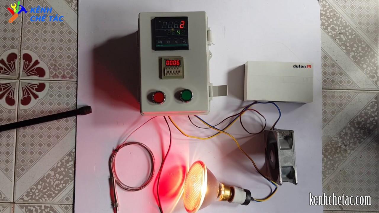 Bộ điều khiển nhiệt độ lò sấy có hẹn giờ _ kênh chế tác