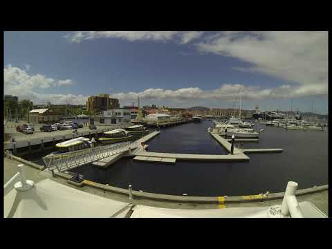 Timelapse over Constitution Dock, Hobart, Tasmania 25th December 2014