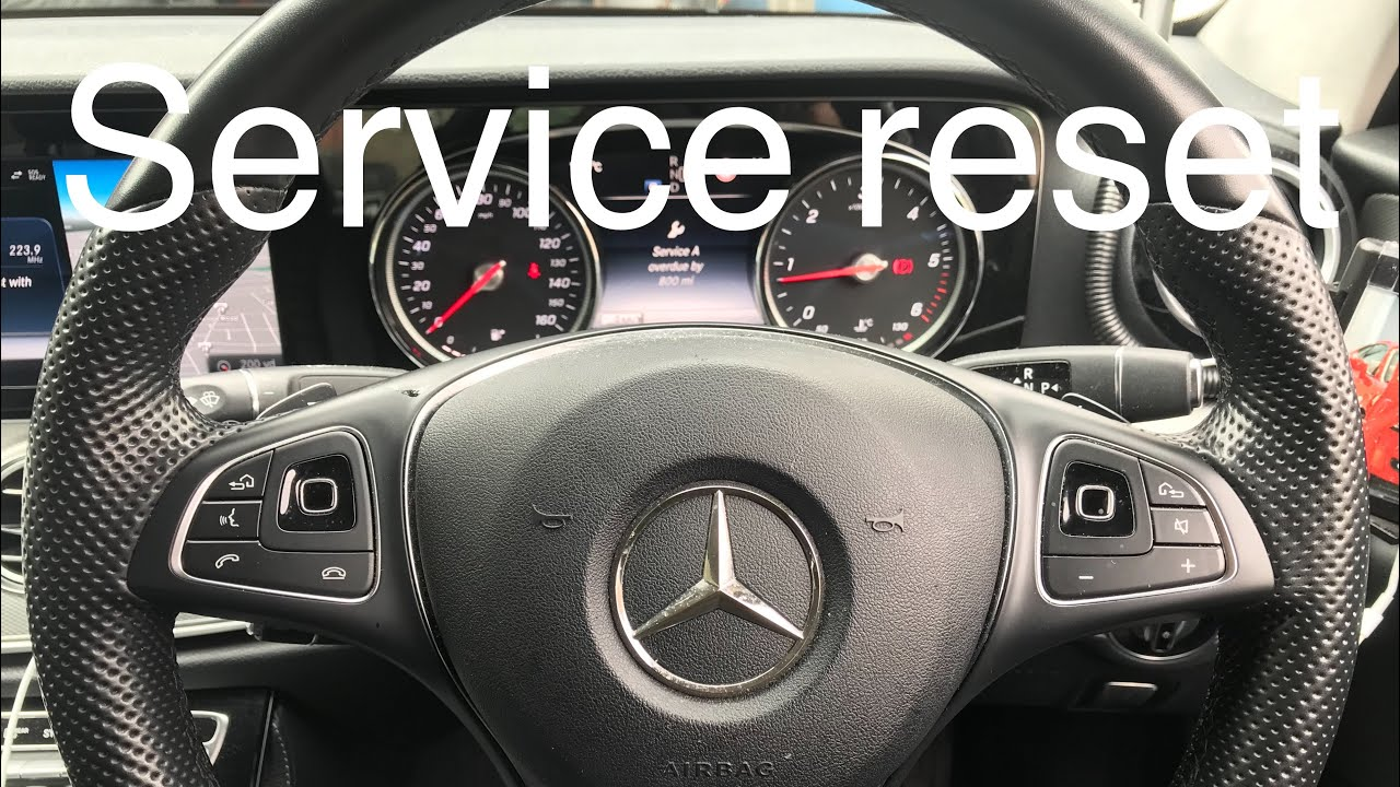 W213 Mercedes E-Class 2018 Service light reset (E220, E250, E300, E320 E350)