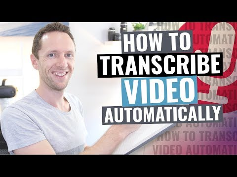How to Transcribe Audio to Text (Video Transcription Tutorial!)