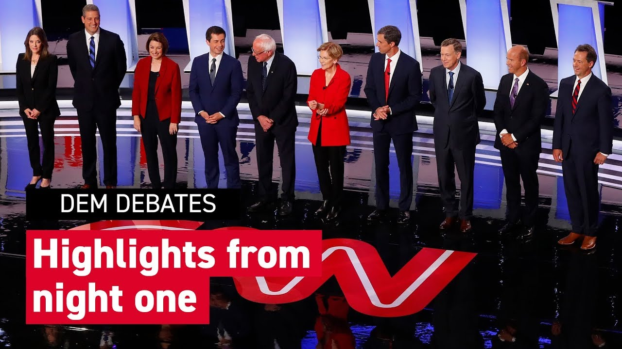Who won night one of the Democratic debates?