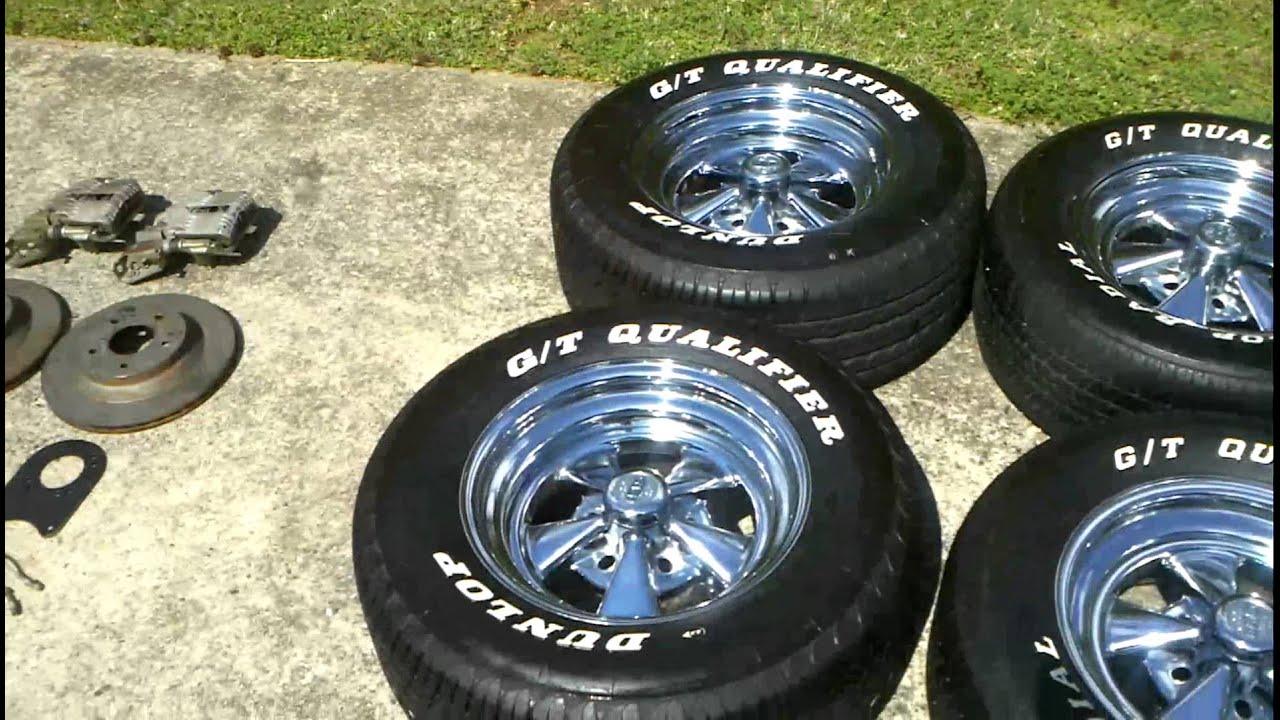 Cragar SS 15x7 wheels with Dunlop G/T Qualifier Tires 255/60R15 ...