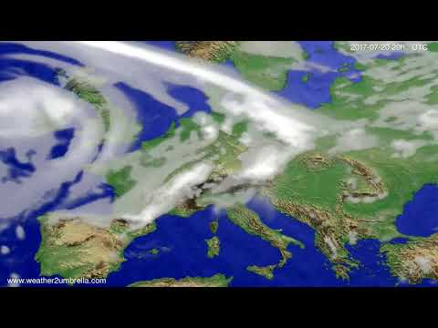 Cloud forecast Europe 2017-07-18