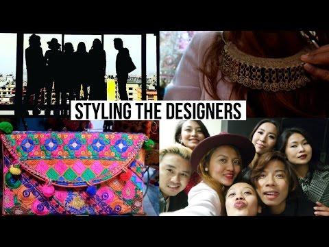 Styling The Designers For ECS Living Magazine I Nepal Vlog