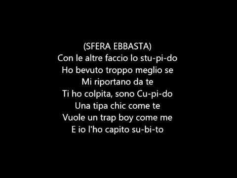 Cupido- Sfera Ebbasta testo