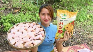 Yummy Crispy Chicken Wing Frying Chili Sauce - Crispy Chicken Wing Cooking - Cooking With Sros