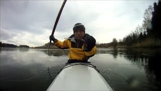 Greenland Kayak Roll: Degersee, February 2014, Paddle Testing