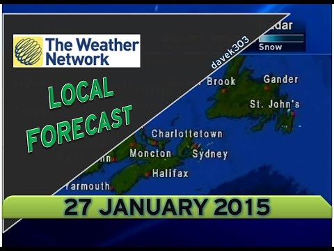 The Weather Network Local Forecast - 27 January 2015