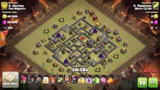 CoC three stars TH9 GOWIVABO with healers
