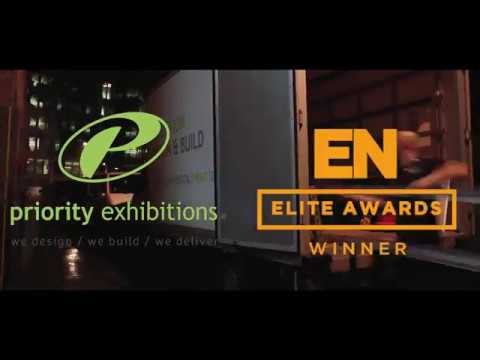 Priority Exhibitions - Stage build with 8m screen for EN Elite Awards