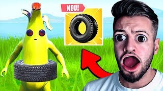 """Reaktion auf NEUES ITEM """"The BOUNCY TIRE"""" in Fortnite !"""