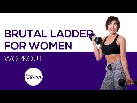 30 Minute BRUTAL Ladder Workout for Women