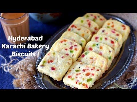 Eggless Hyderabad Karachi Bakery Biscuits in Hindi | Tutti Frutti Biscuits | Fruit Biscuits